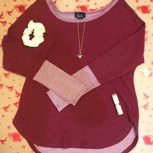Rue 21 Maroon Long Sleeve Top